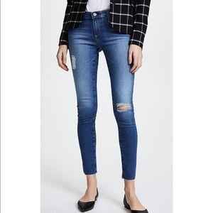 AG Denim Raw Hem Legging Ankle Jeans